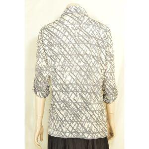 David Cline Tops - David Cline top shirt M gray white silver diamond